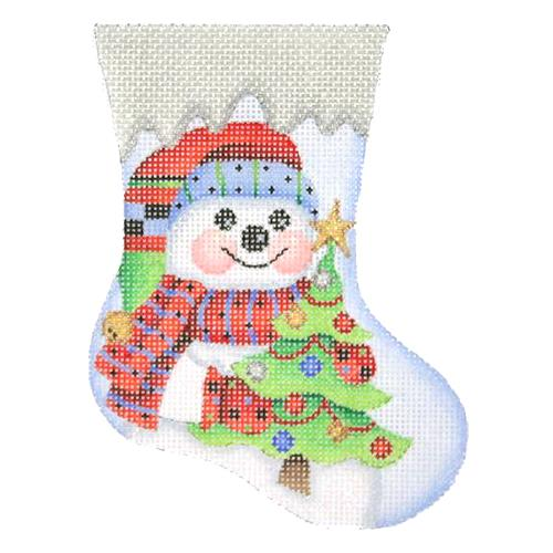 BB 2843 - Mini Stocking - Snowman with Tree