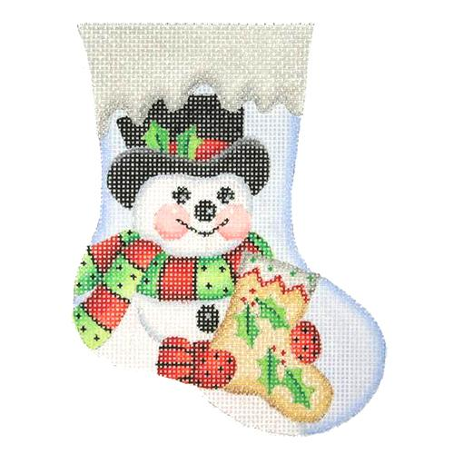 BB 2844 - Mini Stocking - Snowman with Stocking