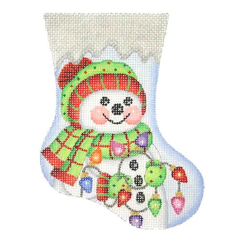 BB 2845 - Mini Stocking - Snowman with Lights