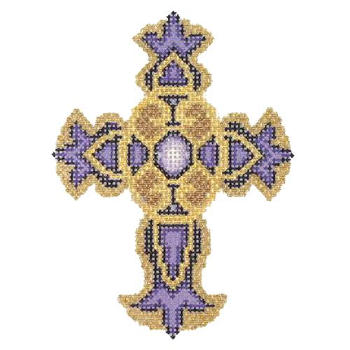 BB 2863 - Cross - Purple & Gold