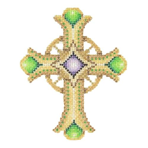 BB 2864 - Cross - Gold & Green