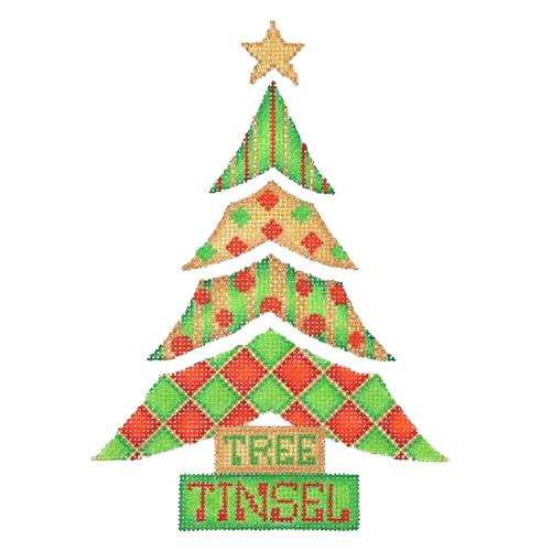 BB 2902 - Patterned Tree - Tree, Tinsel