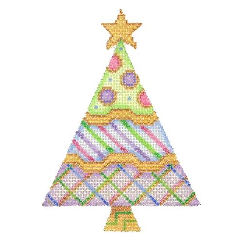 BB 2934 - Triangle Tree - Green, Blue & Lavender