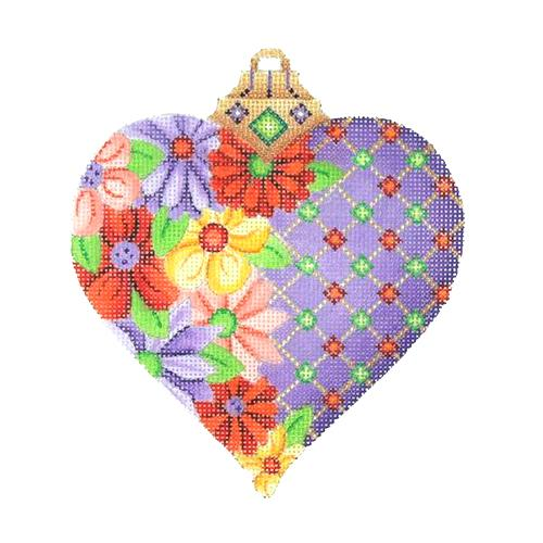 BB 2967 - Purple Floral Heart