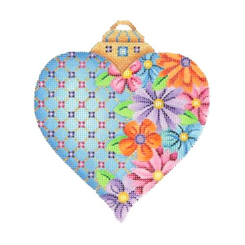 BB 2968 - Blue Floral Heart