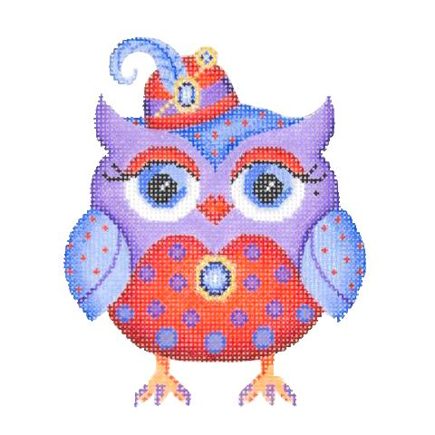 BB 3030 - Owl - Red Hat with Feather