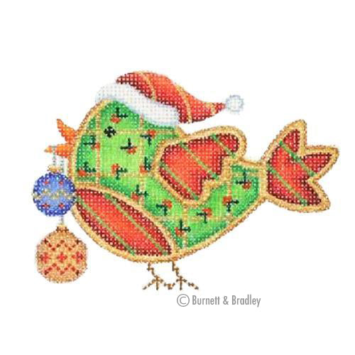 BB 3078 - Christmas Sweetie Tweetie - Santa Hat with Ornaments