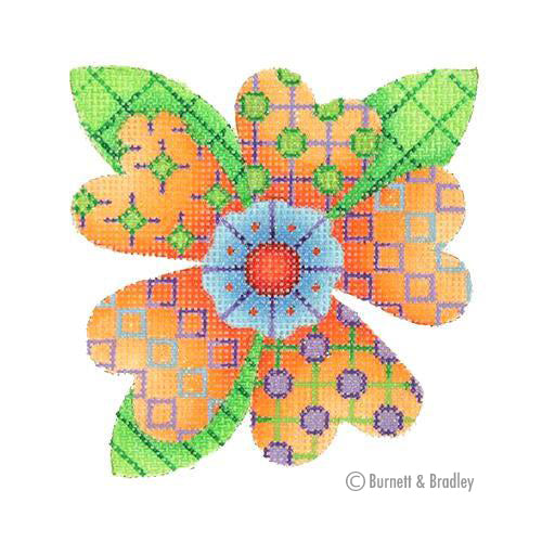 BB 3092 - Patterned Florals - Single Orange