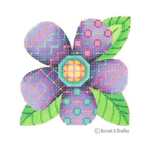 BB 3094 - Patterned Florals - Single Purple