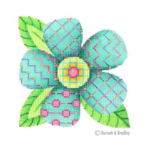 BB 3095 - Patterned Florals - Single Aqua