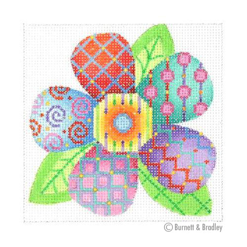 BB 3098 - Patterned Florals - Small Single Multicolor