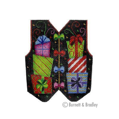 BB 3105 - Christmas Vest - Presents on Black