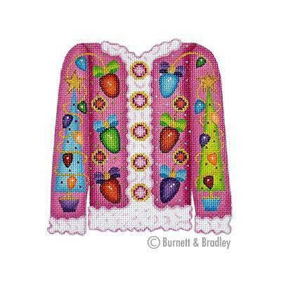 BB 3109 - Christmas Cardigan - Lights on Pink