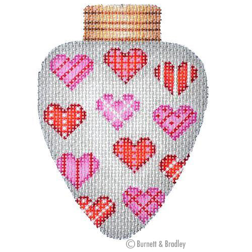 BB 3135 - Christmas Light - Silver with Hearts