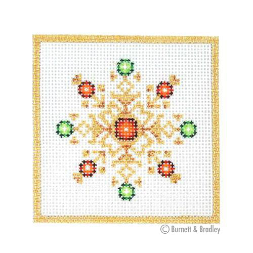 BB 3177 - Square Ornament - Jeweled Snowflake