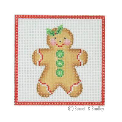 BB 3180 - Square Ornament - Gingerbread Man