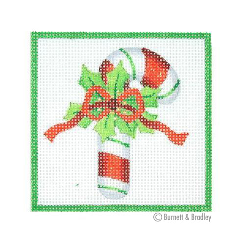 BB 3188 - Square Ornament - Candy Cane