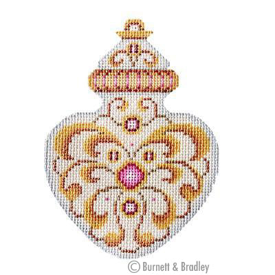 BB 3228 - White & Gold Ornament - Light Rose Jewels