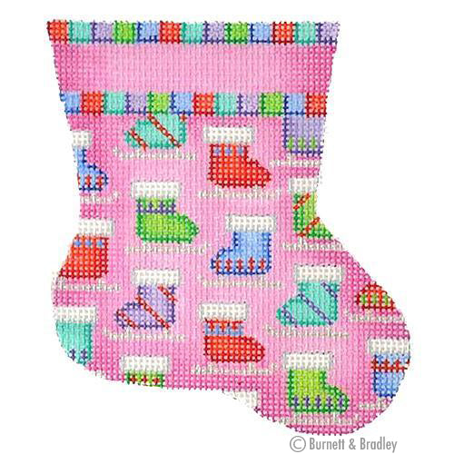 BB 6000 - Mini Stocking - Pink with Skates