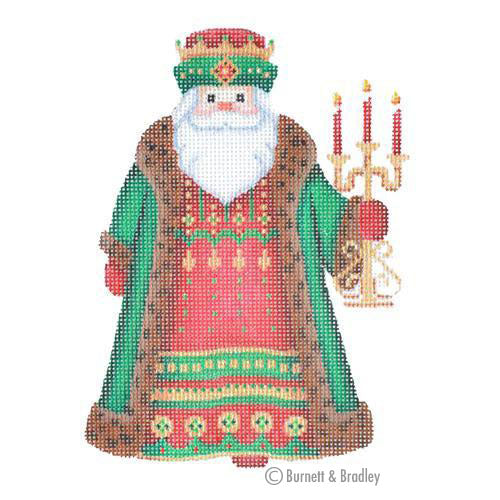 BB 6050 - Santa Claus - Brown Robe with Candles