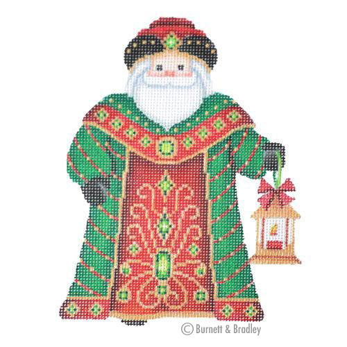 BB 6051 - Santa Claus - Green Robe with Lantern