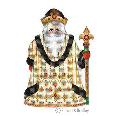 BB 6055 - Santa Claus - Gold & Black Robe with Jewels