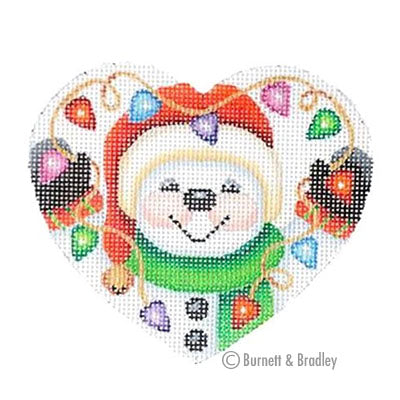 BB 6056 - Mini Snowman Heart - Lights