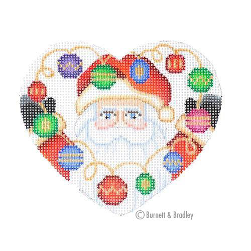 BB 6057 - Mini Santa Heart - Ornaments