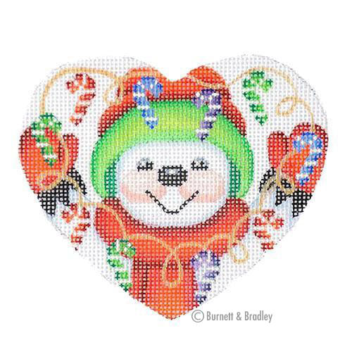BB 6058 - Mini Snowman Heart - Candy Canes