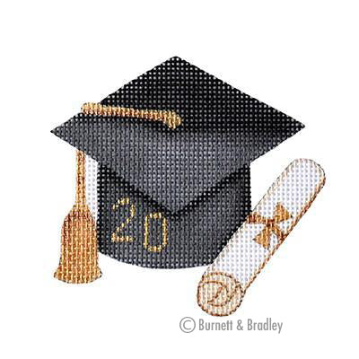 BB 6105 - Graduation Cap - Black