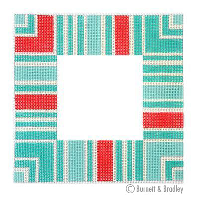 BB 6117 - Strictly Striped Frame - Seafoam
