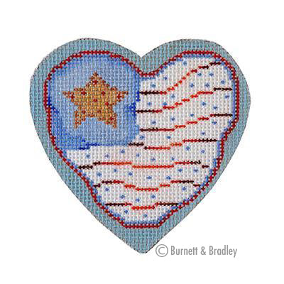 BB 6148 - Americana - Heart Flag
