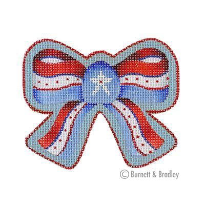 BB 6150 - Americana - Red, White & Blue Bow