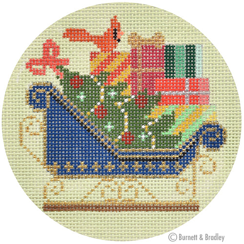 BB 6192 - Navy Sleigh Ornament
