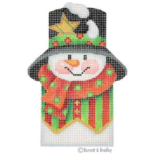 BB 0037 - Snowman Picket - Green & Red Striped Vest