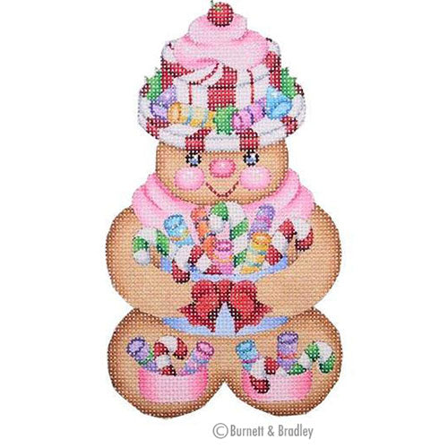 BB 0078 - Gingerbread Girl Peppermint Candy Hat