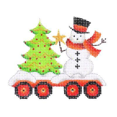 BB 2136 - Train Series - Flat Car with Tree & Snowman