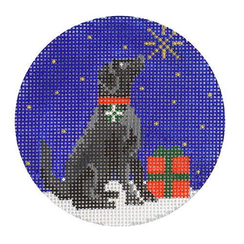 KB 1539 - Midnight Black Labrador Round
