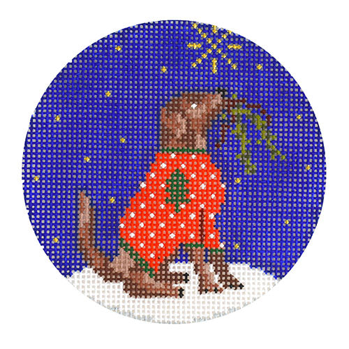 KB 1540 - Midnight Chocolate Labrador Round