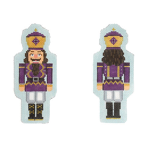 KB 1545 - Double-Sided Nutcracker Ornament - Purple