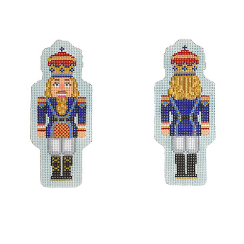 KB 1546 - Double-Sided Nutcracker Ornament - Royal Blue