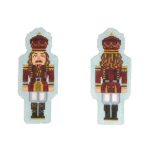 KB 1548 - Double-Sided Nutcracker Ornament - Maroon