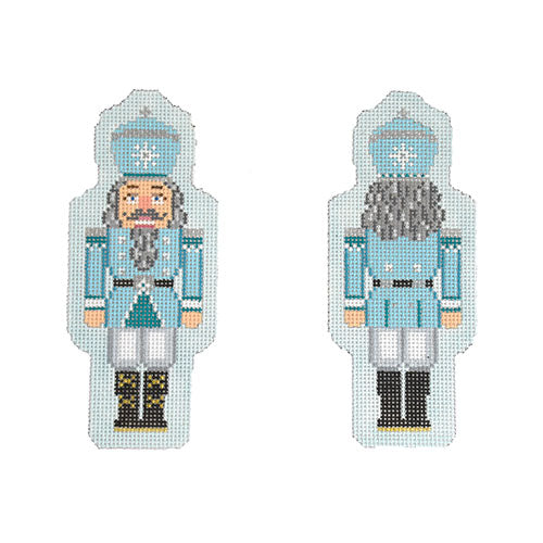KB 1549 - Double-Sided Nutcracker Ornament - Light Blue