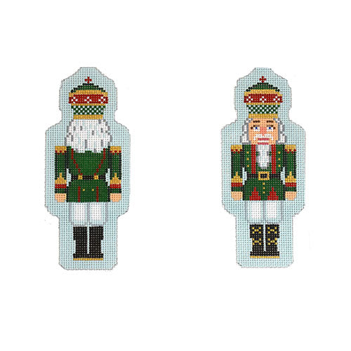 KB 1550 - Double-Sided Nutcracker Ornament - Green