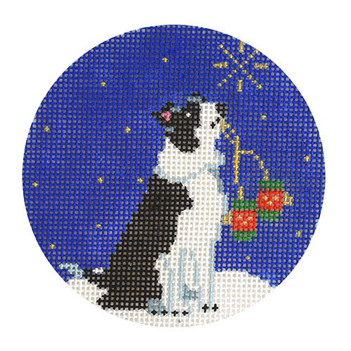 KB 1582 - Midnight Border Collie Round