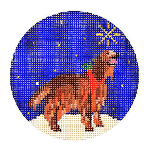 KB 1586 - Midnight Irish Setter Round
