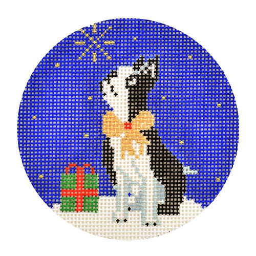 KB 1589 - Midnight Boston Terrier Round
