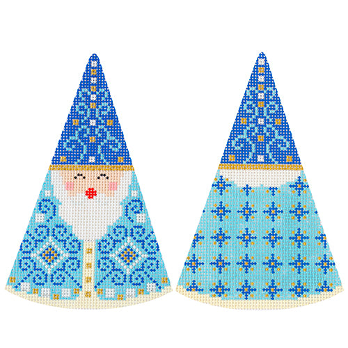 KB 1602 - Santa Cones - Blue Swirls Hat