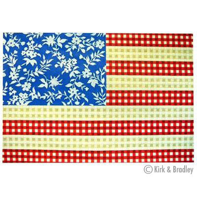KB 032 - Floral Flag -  Stars and Stripes