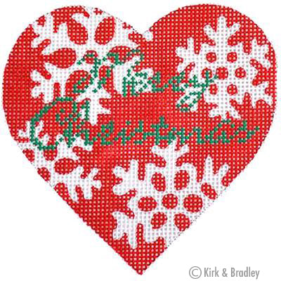KB 057 - Red Snowflake Heart